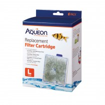 "Aqueon Replacement Filter Cartridges 6 pack Large 5.24"" x 1.75"" x 5.7"""