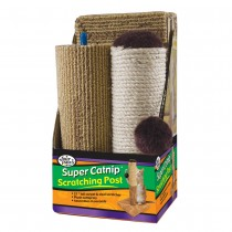 """Four Paws Super Catnip Carpet and Sisal Scratching Post 6.5"""" x 6.5"""" x 21"""""""