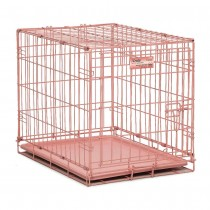 "Midwest iCrate Single Door Dog Crate Pink 24"" x 18"" x 19"" - 1524PK"