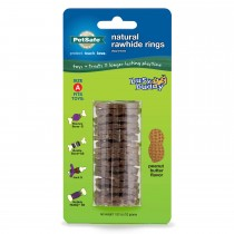 PetSafe Busy Buddy Peanut Butter Rawhide Ring Size A Brown