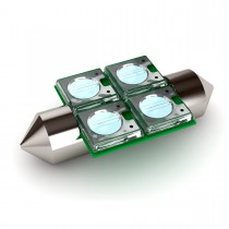 """BioBubble LED Bulb0 Red / White 1.5"""" x 0.75"""" x 0.25"""""""