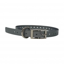"The Buzzard's Roost Replacement Collar Strap 3/4"" Silver 3/4"" x 24"""