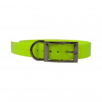 """The Buzzard's Roost Replacement Collar Strap 1"""" Neon Yellow 1"""" x 24"""""""