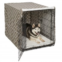 Midwest QuietTime Defender Covella Dog Crate Cover Brown
