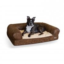 "K&H Pet Products Bomber Memory Dog Sofa Medium Brown 24"" x 33"" x 8.5"""
