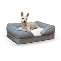 """K&H Pet Products Pillow-Top Orthopedic Pet Lounger Small Gray 18"""" x 24"""" x 8"""""""