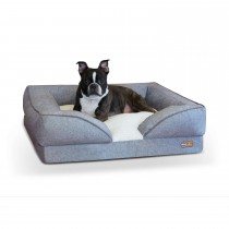 """K&H Pet Products Pillow-Top Orthopedic Pet Lounger Medium Gray 24"""" x 30"""" x 8.75"""""""