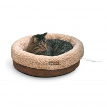 K&H Pet Products Thermo-Snuggle Cup Pet Bed Bomber Chocolate 14'' x 18'' x 7''