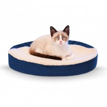 "K&H Pet Products Ultra Memory Foam Oval Pet Cuddle Nest 13"" x 19"" x 4"""