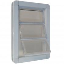 """Ideal Pet Products Premium Draft-Stopper Pet Door Medium White 2.5"""" x 10"""" x 14.75"""""""