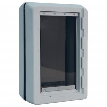 "Ideal Pet Products Ruff-Weather Pet Door Medium Gray 5.56"" x 11.37"" x 17.50"""